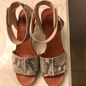 Leather ankle strap by Vince Camuto heels